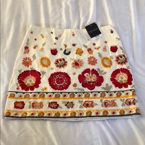 Top shop floral embroidery skirt